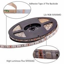 LED-Streifen Lichter SMD 5050 nicht wasserdicht 5M 300leds RGB Flexible LED-Lichterkette mit 44Key Remote