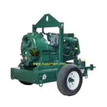 Self Priming Mobile Drainage Anhänger Pumpe 8 ""