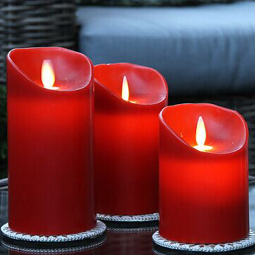 luminara wax flicker led candle