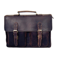 Fashion Leather Laptop Shoulder Bags for Men