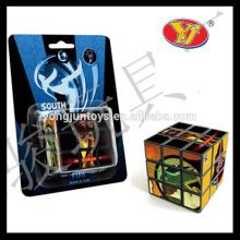 Profissional promocional mágica popular quadrados puzzles cubo para promoção e crianças