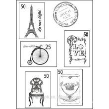 Francés tipo claro sellos para scrapbook