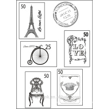 French type Clear stamps for scrapbook