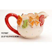 Caneca cerâmica de Painte da mão para o dia de Valentim