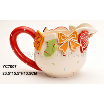 Taza de cerámica de la pintada de la mano para el día de tarjeta del día de San Valentín