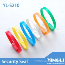Selos de segurança em plástico com número de série