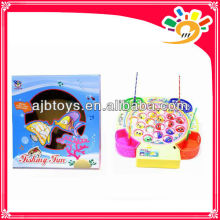 Plastic light musical kids fishing toys for sale