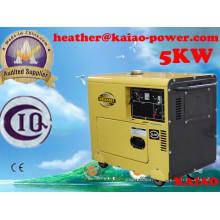 Generador diesel de la marca de fábrica pequeña China 5kw refrigerado por aire