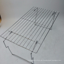 Mesa de parrilla de barbacoa de hierro fundido de acero inoxidable portátil al aire libre