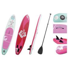 Rosa flor Popular inflável Sup placa levantar Paddle Board prancha de Surf