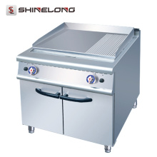 Commercial stainless steel Gas 2/3 Flat And 1/3 Griddle Grill Pan With Cabinet For Restaurant Griddle