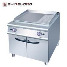 Gás de aço inoxidável comercial de gás 2/3 e 1/3 de grelhador com gabinete para churrasqueira de restaurante