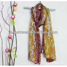 мода печатных вуаль шарф леопарда
