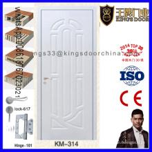 Porte en bois de couleur blanche élégante de chambre à coucher