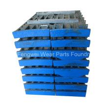 Kundenspezifische Backenplatte aus Gussstahl mit hohem Mangangehalt, kompatibel mit Metso Brechern
