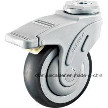 Support en plastique 3 rouleau médical pivotant de 5 pouces, roulette de roulement de lit d'hôpital
