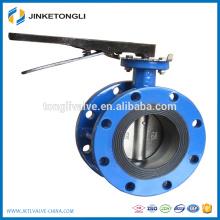 worm gear cast iron double flange dn400 butterfly valve TLBV063L