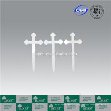 Croix de LUXES blanc bois Croix cimetière