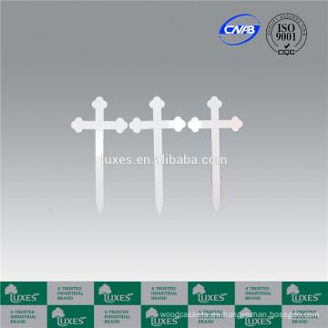 Cruces de cementerio de cruces de madera de blanco de LUXES