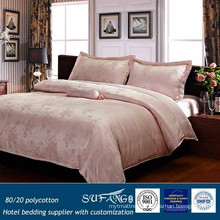 80/20 Polycotton Hotel Bedding Supplier with Customization