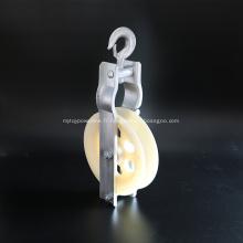 Poulie de câble en nylon à bloc de poulie simple