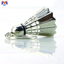 Metal custom sport shuttlecock keychain badminton