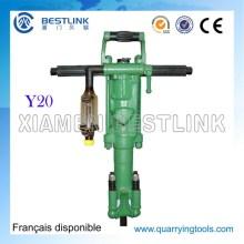 Y20 Portátil poderoso pneumático molhado seco Vertical máquina de perfuração