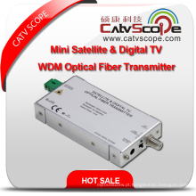Mini Satélite e Digital L Band TV Wdm Fibra Óptica Transmissor
