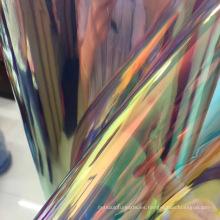 Espejo cuero tpu colorido pu para hacer zapato