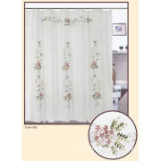 Ribbon Embroidery Shower Curtain