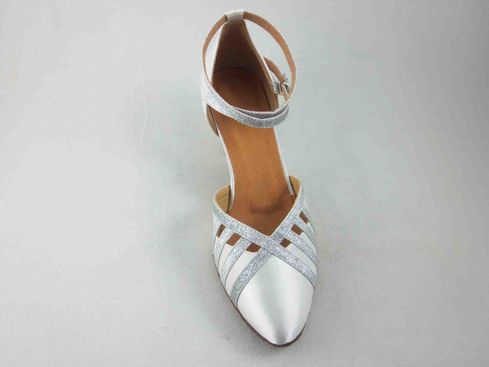 White Satin Ballroom Shoes