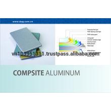 Огнестойкость, не требует обслуживания 1220мм * 2440мм Алюминиевая композитная панель для облицовки стен