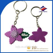 Frische Blume 2D kundenspezifische geformte weiche PVC Keychain
