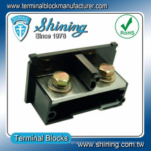 TE-300 trilho de jato DIN de 35 mm montado em 600V 300A tira de terminal de parafuso de latão