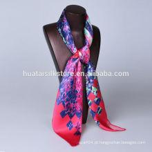 Não MOQ impressão digital cachecol de seda fábrica em Hangzhou China