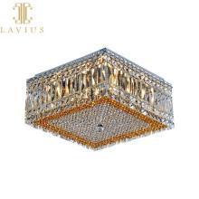 Plafonnier design de luxe pour hôtel carré classique