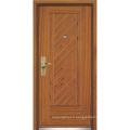 Porte d'entrée en bois en acier / porte en bois en acier (YF-G9058)