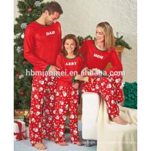 2016 Natal impressão de algodão pijamas 2 pcs set natal pijamas família