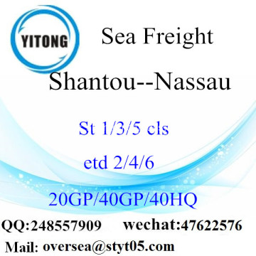 Shantou Port Sea Freight Shipping ke Nassau