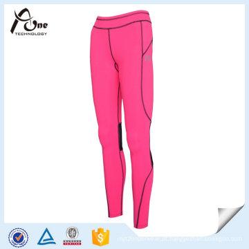 Atacado senhora compressão calças respirável Sportwear