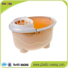 Squeeze Plastic Mop Wringer Bucket com Rodas