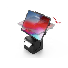 Two-in-one adjustable tablet enclosure pos terminal stand for ipad with printer holder