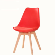 Criativa tulipa nórdica madeira maciça perna conferência cadeira de jantar