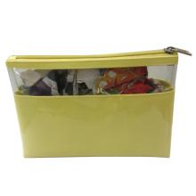 Sac de cosmétiques jaune PVC pour dames