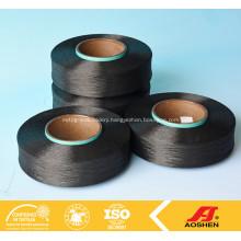 Spandex yarn 100% black
