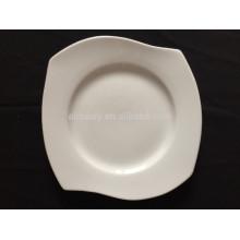 Porzellan weiße quadratische Platte mit Wellen