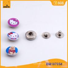 Botões feitos sob encomenda das crianças do metal crachás Botão pressionado da pressão BM10705