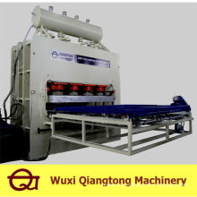 Laminación de ciclo corto máquina de prensa caliente / máquina de prensa de melamina mdf