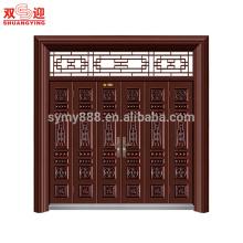 conception de porte principale en acier inoxydable avec serrure de poignée de porte