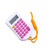 Colorful Push Buttons Calculator with Hang Rope